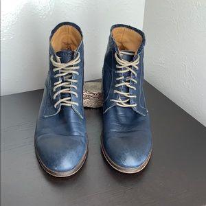 Gidigio 37.5 Blue Lace Up Leather Boots